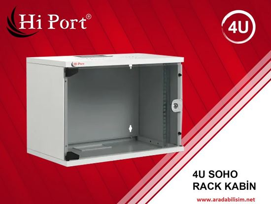 4U HI PORT KABİN W=530MM D=400MM SOHO RACK KABİN resmi