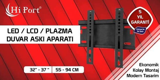 "Hi Port 32""-37"" LED LCD PLAZMA TV DUVARA SABİT ASKI APARATI resmi"