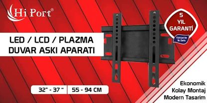 "Hi Port 37""-94"" LED LCD PLAZMA TV DUVARA SABİT ASKI APARATI resmi"
