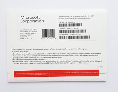 MS WINDOWS SERVER 2012 STD 2CPU INGILIZCE OEM P73-06165 resmi
